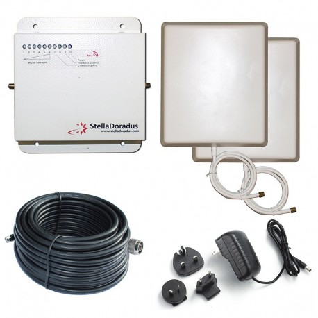 Ripetitore Amplificatore StellaDoradus StellaHome GSM SD-RP1002-G - 1000mq - Pannello Esterno