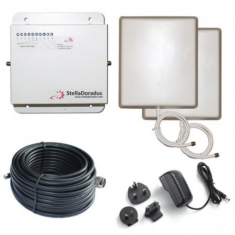 Ripetitore Amplificatore StellaDoradus StellaHome GSM SD-RP1002-G - 2000mq - Pannello Esterno