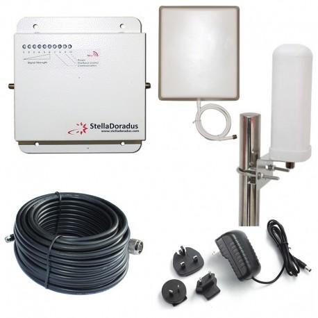 RIPETITORE AMPLIFICATORE STELLA DORADUS STELLAHOME GSM SD-RP1002-G - 2000mq - OMNI ESTERNA