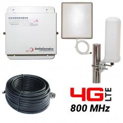 RIPETITORE AMPLIFICATORE STELLA DORADUS STELLAHOME 4G/LTE 800MHz - SD-RP1002L - 1000mq - OMNI ESTERNA