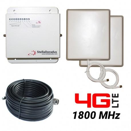 RIPETITORE AMPLIFICATORE STELLA DORADUS STELLAHOME 4G/LTE 1800MHz - SD-RP1002D - 1000mq - PANNELLO ESTERNO