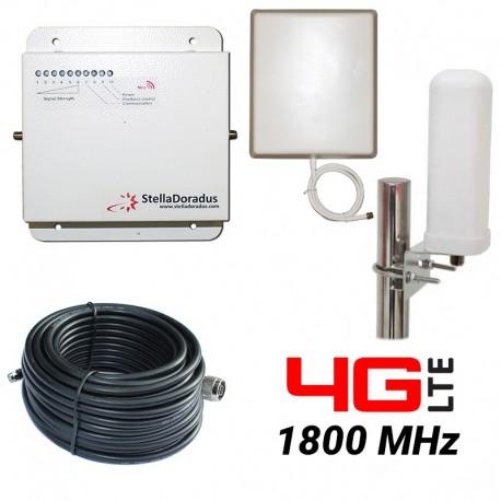 RIPETITORE AMPLIFICATORE STELLA DORADUS STELLAHOME 4G/LTE 1800MHz - SD-RP1002D - 1000mq - OMNI ESTERNA