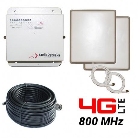 Ripetitore Amplificatore StellaDoradus StellaHome LTE / 4G 800MHz - SD-RP1002-L - 2000mq - Pannello Esterno