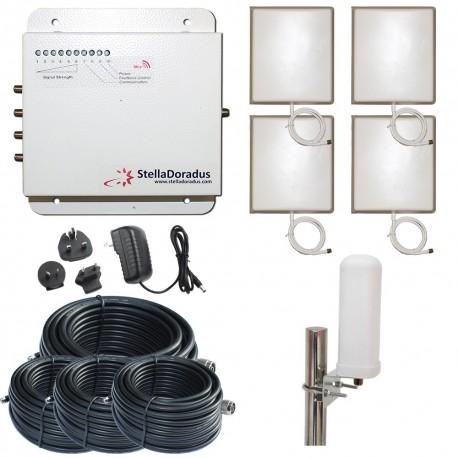 Ripetitore Amplificatore StellaDoradus StellaOffice GSM - SD-RP1002-G-4P - 4000mq - Omni Esterna