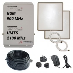 Ripetitore Amplificatore StellaDoradus StellaHome Dual Band GSM UMTS SD-RP1002-GW - 2000mq - Pannello Esterno