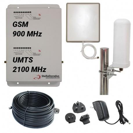 Ripetitore Amplificatore StellaDoradus StellaHome Dual Band GSM UMTS SD-RP1002-GW - 2000mq - Omni Esterna