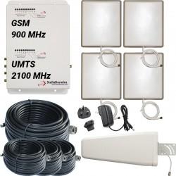 Ripetitore Amplificatore StellaDoradus StellaOffice Dual Band GSM UMTS SD-RP1002-GW-4P - 4000mq - Yagi Esterna