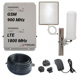 Ripetitore Amplificatore StellaDoradus StellaHome Dual Band GSM, LTE / 4G 1800MHz - SD-RP1002-GD - 1000mq - Omni Esterna
