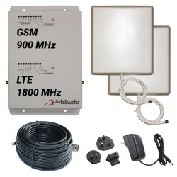 Ripetitore Amplificatore StellaDoradus StellaHome Dual Band GSM, LTE / 4G 1800MHz - SD-RP1002-GD - 2000mq - Pannello Esterno