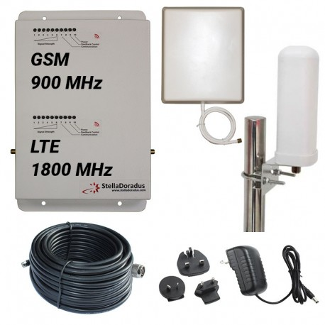 RIPETITORE AMPLIFICATORE STELLA DORADUS STELLAHOME DUAL BAND GSM LTE SD-RP1002-GD - 2000mq - OMNI ESTERNA