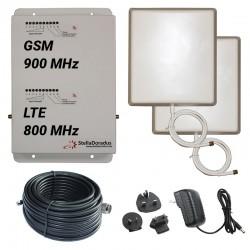 Ripetitore Amplificatore StellaDoradus StellaHome Dual Band GSM, LTE / 4G 800MHz - SD-RP1002-LG - 2000mq - Pannello Esterno