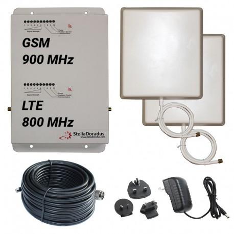 Ripetitore Amplificatore StellaDoradus StellaHome Dual Band GSM LTE SD-RP1002-LG - 2000mq - Pannello Esterno