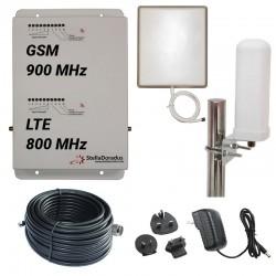 RIPETITORE AMPLIFICATORE STELLA DORADUS STELLAHOME DUAL BAND GSM LTE SD-RP1002-LG - 2000mq - OMNI ESTERNA