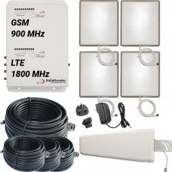 Ripetitore Amplificatore StellaDoradus StellaOffice Dual Band GSM LTE SD-RP1002-GD-4P - 4000mq - Yagi Esterna