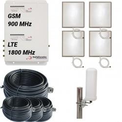 RIPETITORE AMPLIFICATORE STELLA DORADUS STELLAOFFICE DUAL BAND GSM LTE SD-RP1002GD-4P - 4000mq - OMNI ESTERNA