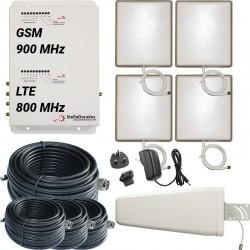 RIPETITORE AMPLIFICATORE STELLA DORADUS STELLAOFFICE DUAL BAND GSM LTE SD-RP1002LG-4P - 4000mq - YAGI ESTERNA