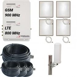 RIPETITORE AMPLIFICATORE STELLA DORADUS STELLAOFFICE DUAL BAND GSM LTE SD-RP1002LG-4P - 4000mq - OMNI ESTERNA