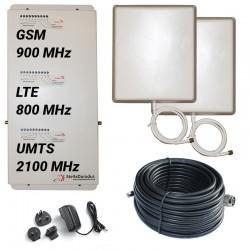 RIPETITORE AMPLIFICATORE STELLA DORADUS STELLAHOME TRI BAND LTE GSM UMTS SD-RP1002LGW - 1000mq - PANNELLO ESTERNO