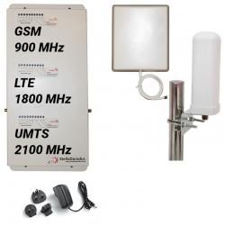 Ripetitore Amplificatore StellaHome Tri Band GSM, UMTS / 3G, LTE / 4G 1800MHz - SD-RP1002-GDW - 1000mq - Omni Esterna