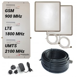 Ripetitore Amplificatore StellaHome Tri Band GSM, UMTS / 3G, LTE / 4G 1800MHz - SD-RP1002-GDW - 2000mq - Pannello Esterno