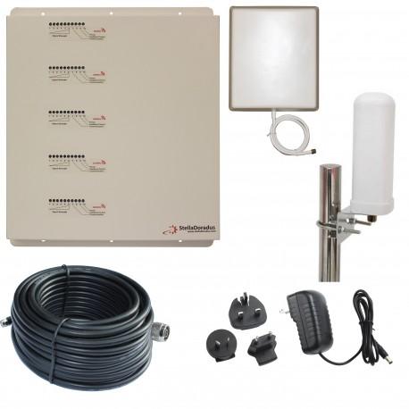 Ripetitore Amplificatore StellaDoradus StellaHome Penta Band GSM, UMTS / 3G, LTE / 4G - SD-RP1002-LGDWH - 2000mq - Omni Esterna
