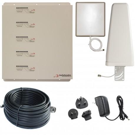 Ripetitore Amplificatore StellaDoradus StellaHome Penta Band GSM, UMTS / 3G, LTE / 4G - SD-RP1002-LGDWH -2000mq - Yagi Esterna