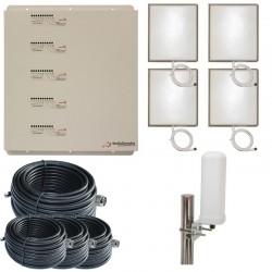 Ripetitore Amplificatore StellaOffice Penta Band GSM, UMTS / 3G, LTE / 4G - SD-RP1002-LGDWH-4P - 4000mq - Omni Esterna