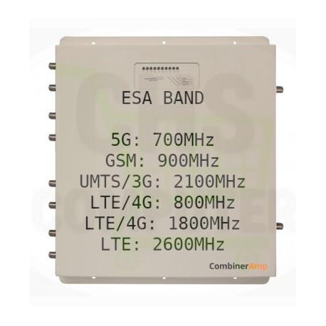 Combinatore Amplificatore MIMO StellaDoradus LTE Combiner Amp Esa Band GSM, UMTS / 3G, LTE / 4G, 5G - Combiner-6 Marine
